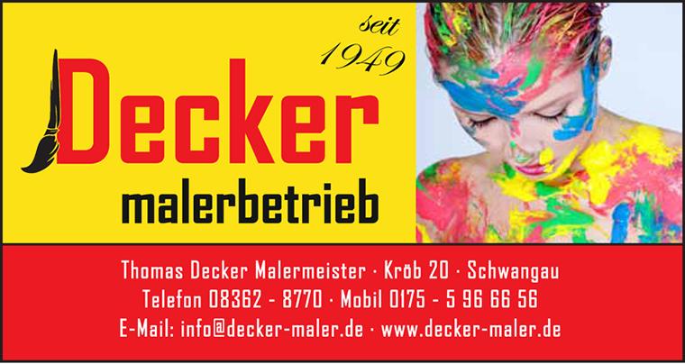 Logo Malerbetrieb Thomas Decker, Schwangau, Füssen und Umgebung